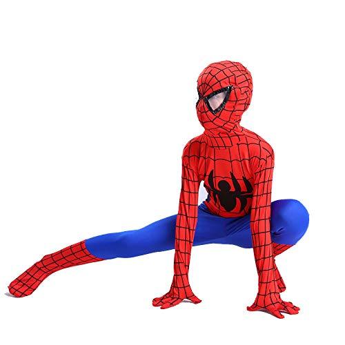 QXMEI Halloween Kinderkostüm Junge Spiderman Kleidung Cosplay Cosplay Kostüm,Red-110cm