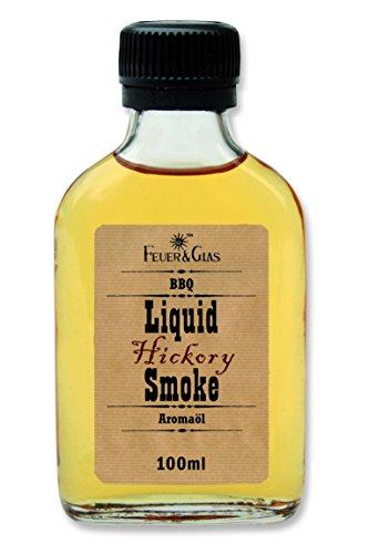 Flüssiges Rauch-Aroma zum Grillen aus wertvollem Hickory-Holz. Für leckere Grillsaucen mit einer fantastischen rauchigen Würze, Liquid Smoke von Feuer & Glas(100ml)