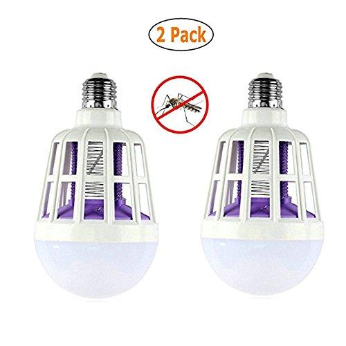 Preisvergleich Produktbild ZPPLD Moskito-LED-Moskito-Mörderlampe Beleuchtungssteuerungslampe Doppelzweck 3 Stadiums-Glühlampeschalter ohne Geräusche, 2PCS