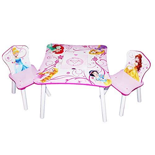 Disney Kindersitzgruppe Princess Tisch + 2 Stühle Netz Sitzgruppe Aufbewahrung Maltisch Kindermöbel NEU