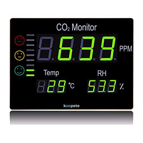Koopete, CO2-Meter, Temperatur und Luftfeuchtigkeit, Überwachung der Luftqualität (Alarm-zen)