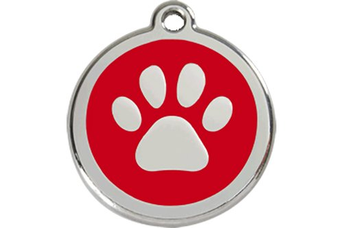 red-dingo-paw-print-enamel-dog-tag-red-medium