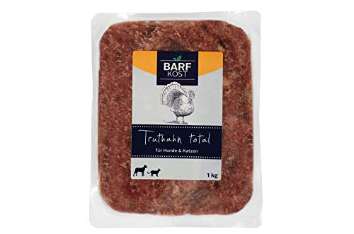 BARF Kost Hundefutter, 100% Truthahn, Barffutter, Barffleisch für Hunde, Fertigbarf, (12 kg - 30 kg)