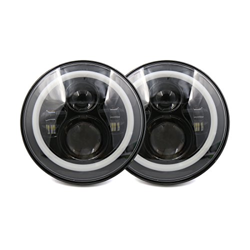 sourcingmap-2pcs-7-round-black-led-projector-headlight-h4-h13-high-low-beam-headlamp-bulb-turn-signa