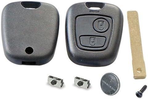 Kit de réparation pour clé télécommande 2 boutons de Peugeot 307 Citroën