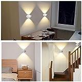 LED Wandleuchte Innen Warmweiß Weiß Farbwechsel Wandlampe 10W Modern Up Down Leuchte Wandlicht Aluminium Wandbeleuchtung für Kinderzimmer Treppenhaus Flur Wohnzimmer Schlafzimmer,Oberfläche:weiß