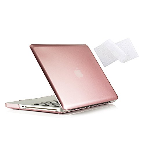 MacBook Pro 13 Hülle 2012 2011 2010 2009 Release A1278, Ruban Hard Case Shell Cover und Keyboard Skin Cover für Apple MacBook Pro 13 Zoll mit CD-ROM - Rose Gold (13inch Apple Macbook Pro Fall)