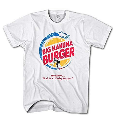 Burger Weißes T-shirt (Herren T-Shirt Big Kahuna Burger Fiction Movie Pulp)