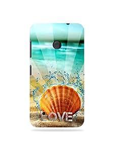 alDivo Premium Quality Printed Mobile Back Cover For Nokia Lumia 530 / Nokia Lumia 530 Printed Ocean of Love Mobile Case / Cover (MKD068)
