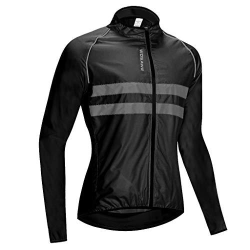 Baoblaze Winddichte Fahrrad Langarm-Reitjacke Rennrad MTB Bike Sport Outfits - L