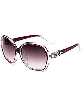 Hosaire Sombras mujeres de gran tamaño gafas de sol clásico del diseñador de moda de estilo UV400-Brillante Negro...