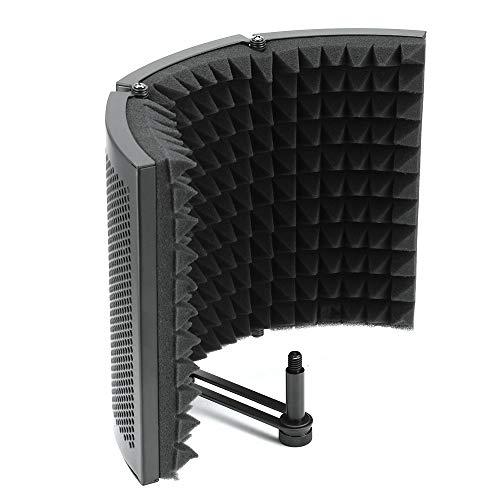 Winbang Scudo Acustico, Camera Acustica Trattamento Ad Alta Densità Schiuma Assorbente Microfono Pieghevole Isolante per Studio Professionale e da Casa