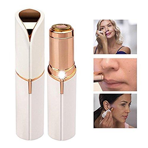 Rasieren, Haut-behandlung (Haarentferner Gesundheit Hautpflege Hot Finishing Damen schmerzlos Haarentferner mit Akku (Weiß))