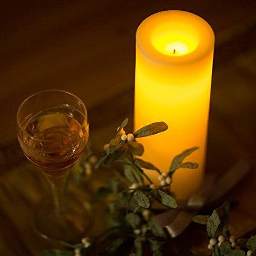Cera 10Inch Pilar LED recargable parpadeo Vela de Navidad con mecha