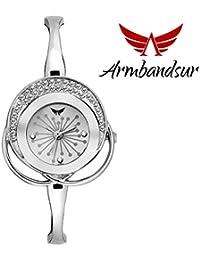 Armbandsur silver case & dial watch-ABS0059GSW