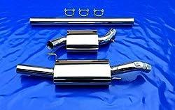 3 Zoll (76mm) Golf 3 III 1x76 Edelstahl Auspuffanlage Sportauspuff VR6 Turbo 16v G60 ohne Gutachten