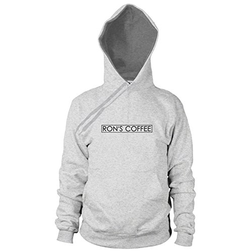 Ron's Coffee - Herren Hooded Sweater, Größe: S, Farbe: grau meliert (Fsociety Kostüm)