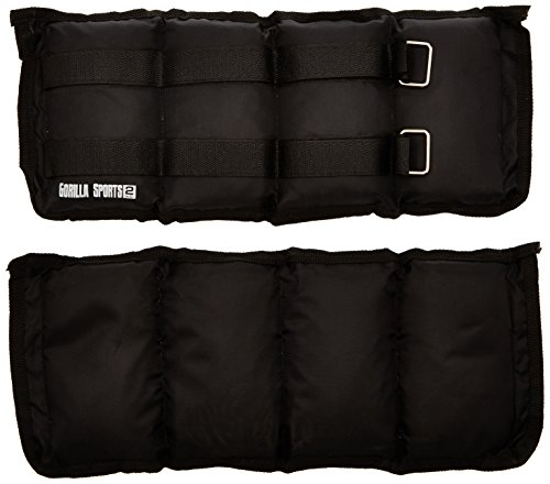 Gorilla Sports - Fasce zavorrate polsi/cavigliere