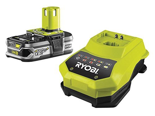 Ryobi RBC18L15 ONE+ 1.5 Ah Lithium Plus Battery and One Hour Charger, 18 V by Ryobi