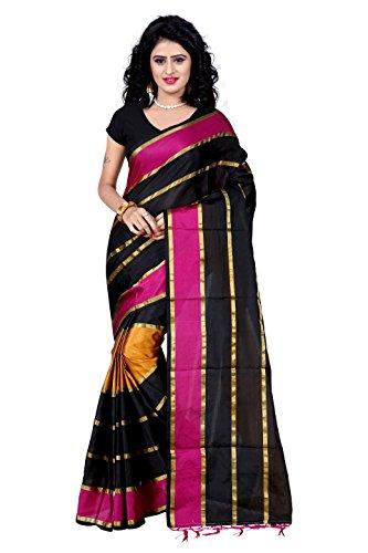 Trendz Tassar Silk Saree(TZ_Patta_Pink)