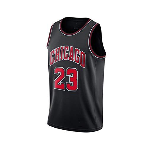 WWJIE Basketballuniform, Bulls, 23. Michael Jordan, Spielerversion, Vintage-Trikot für Männer und Frauen- Black Clothes-XS