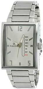 Maxima Attivo Day-Date Silver Dial Men -25141CMGI