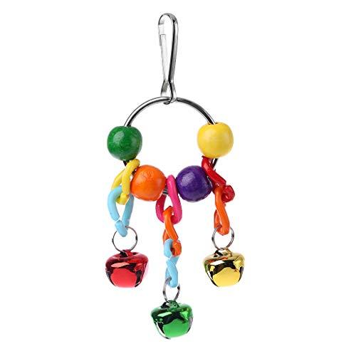 Fuwahahahahah Vogelglocken, Papageien, Krallenfüße, Käfig, hängendes Spielzeug mit bunten Glöckchen