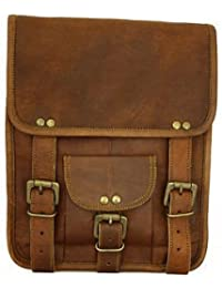 Leather Bag Genuine Vintage Brown Handmade Messenger Bag Shoulder Bag Satchel / Ipad Bag Size L (10) H (13) W(...