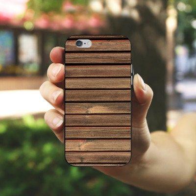 Apple iPhone X Silikon Hülle Case Schutzhülle Holz Look Holzlatten Planken Silikon Case schwarz / weiß