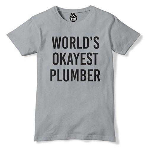 World Okayest Klempner T Shirt Grau - Grau - Sport Grey