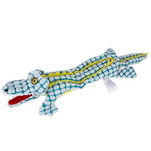 Haustier Spielzeug - Pet Plüsch Krokodilform Vocal Molar Biss-resistentes Spielzeug - Hunde Spielzeug Plüsch Hundespielzeug für Welpen Kleine Mittelgroße Hunde - 1 stück (Blau, L) -