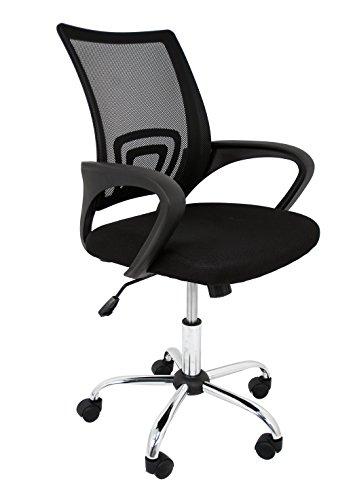 La Silla Española Die spanische Stuhl Ribadeo Bürostuhl ohne Kopfstütze 61x58x89 cm Schwarz