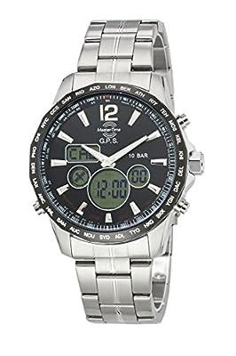 Master Time GPS II Reloj de hombre mtgs de 10555–21M GPS World Wide Time, acero inoxidable reloj de pulsera * * Top Descuento * * de Master Time