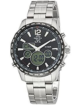 Master Time GPS II Herrenuhr MTGS-10555-21M GPS World Wide Time, Edelstahl Armbanduhr