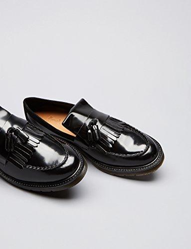FIND Herren Loafer aus Lackleder Schwarz (Black)