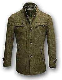 Amazon.it  trench uomo lungo - Giacche   Giacche e cappotti ... 059b4e2c785