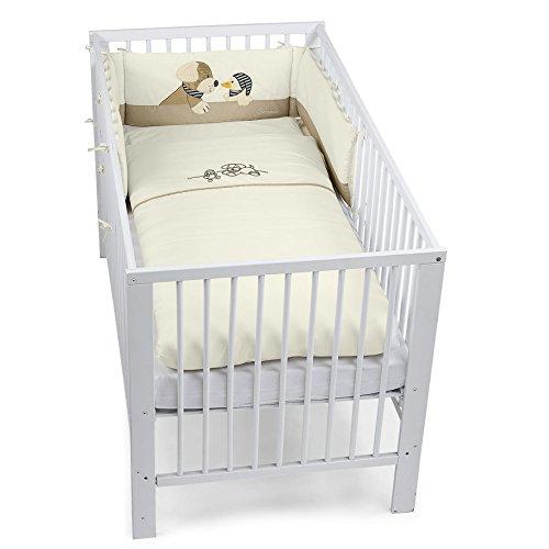Sterntaler Bett-Set, Kopfkissen, Bettdecke und Bett-Nestchen, Hund Hanno, Alter: Für Babys ab der Geburt, Beige/Braun -