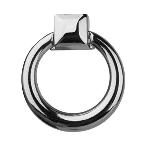 Pixnor 10pcs moderne Schublade Griff Kommode Kleiderschrank Schrank Knopf Spannring (Silber) (40mm Ring-pull)