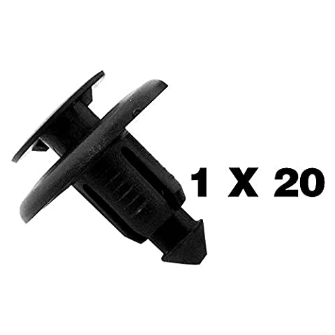 tuqiang® 20 x/Plastic Screw Clips Plastic Trim Clip and Universal Band. HONDA/MAZDA/Subaru/Toyota/Renault – BC1D56145 – Wheels/Fillings/Plastic Rivets Door Panels/Switch – These fit in a Hole 8 mm – Body Moulding Clips