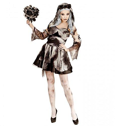 Totenbraut Damen-Kostüm Geisterbraut Halloween Geist Tote Braut sexy Kleid, Größe:M