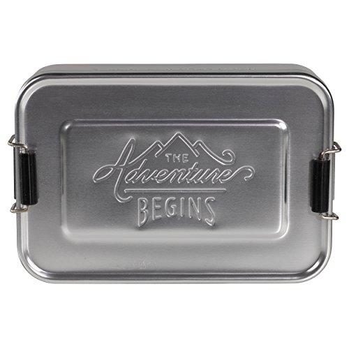 Gentleman 's Hardware Lunch Dose, Silber, groß