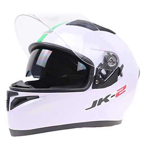 Magideal casco sportivo moto modulare doppio visiera flip up anti nebbia motociclo dot approvato - xxl