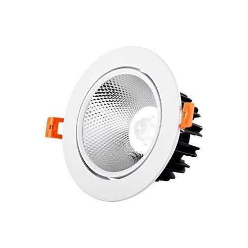 Wlnnes COB Foco empotrable LED Empotrable Downlight Luz de techo Sala Lámpara...