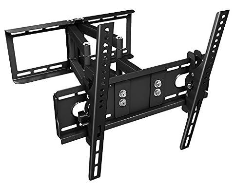 RICOO TV Wandhalterung Schwenkbar Neigbar R28 Universal LCD Wandhalter Ausziehbar Fernseher Halterung Curved 4K OLED LED Flachbildfernseher 80-165 cm/ 32