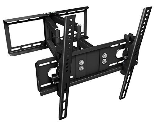 """Ricoo TV Wandhalterung R28 Schwenkbar Doppelarm Plasma LCD LED Wandhalter für Fernseher mit ca. 76 - 165cm (30""""-65"""") VESA max. 400x400 universell passend fuer alle TV-Hersteller *** Wandabstand nur 100 mm ***"""