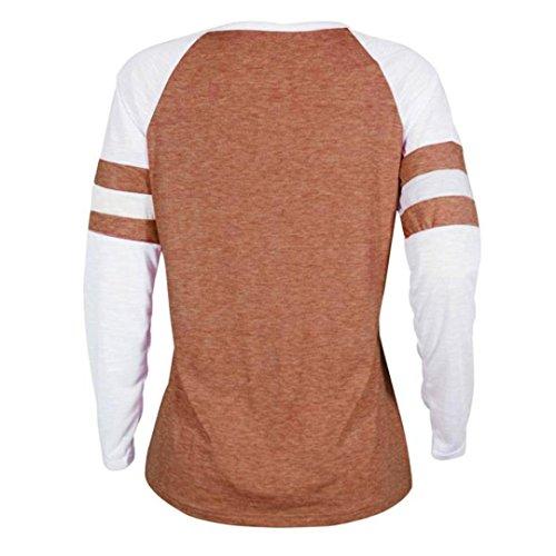 EUzeo_Women Clothing -  Maglia a manica lunga  - Moda - Donna Orange