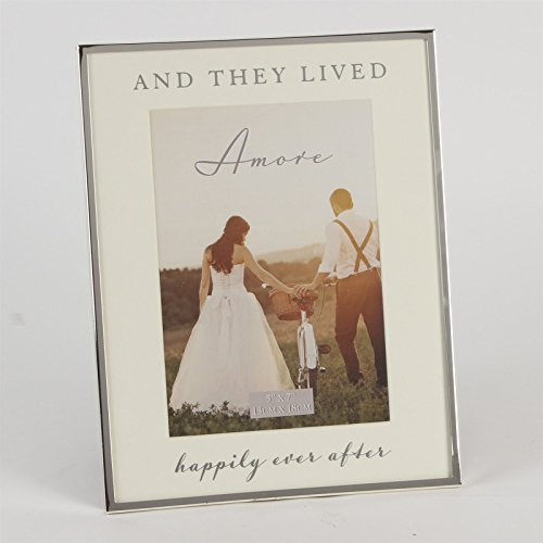 Amore and They Lived Happily Ever After 5x 7Hochzeit Foto Rahmen wg848 (5x7 Hochzeit Rahmen)