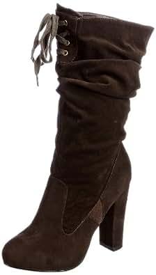 Ravel Women's Harrow Brown Fur Trimmed Boots Rlb944 3 UK