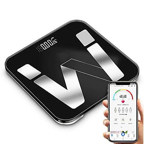 LYDB Bluetooth Digitale Personenwaage Smartphone-Anwendung Drahtloses Gewichtsmessgerät für Körperfett, 396 Pfund