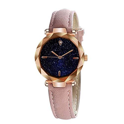 friendGG_Armbanduhren Damenuhren Minimalismus Sternenhimmel Magnet Schnalle Armbanduhr Freizeit Business Einfach und Stilvoll Luxuriöses Zifferblatt Konvexband Analog Handgelenksarmband Zart